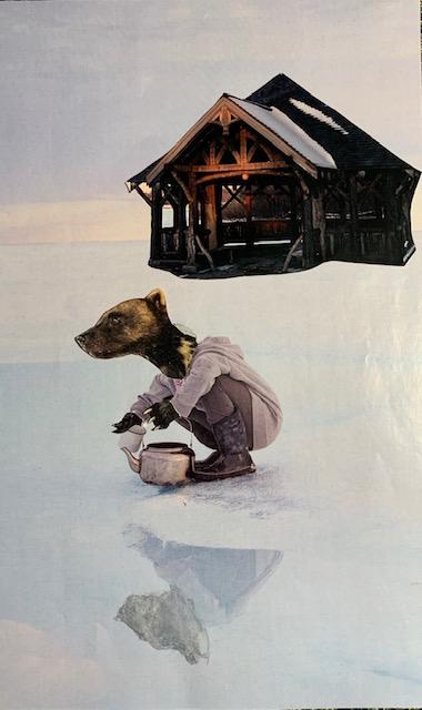 Hermit Cabin Collage